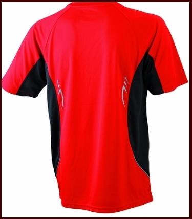 Maglietta sportiva leggera e traspirante rossa e nera
