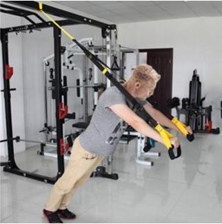 Kit allenamento sospensione fino a 400 kg dal colore giallo