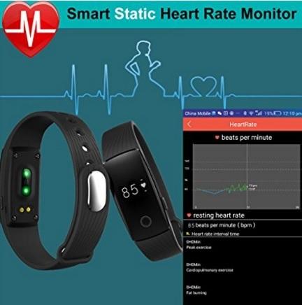 Braccialetto fitness tracker sportivo e cardiofrequenzimetro