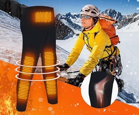 Pantaloni riscaldati batteria