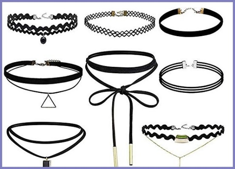 Accessori Donna Collane Nere