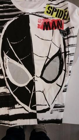 Maglia leggera di spider man per bambino