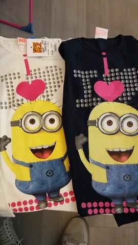 Varie magliette dei minions bambine