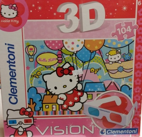 Puzzle da 104 pezzi di hello kitty in 3d