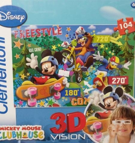 Puzzle clementoni in 3d di topolino e amici