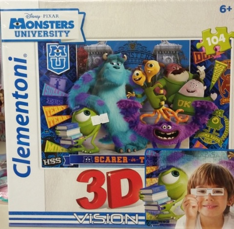 Puzzle clementoni monster & co in 3d