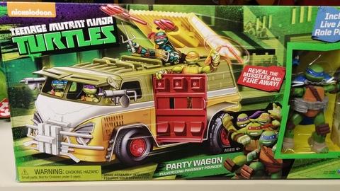 Il famoso camion delle tartarughe ninja