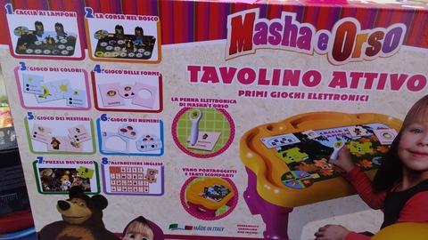 Marsha & orso tavolo interattivo