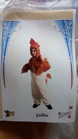 Costume di carnevale la gallina