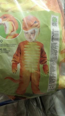 Costume per bambini e bambine da dinosauro