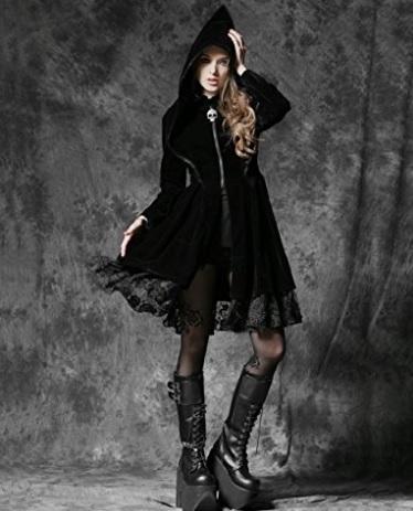Giacca Imbottita Gothic Dark Dal Colore Nero