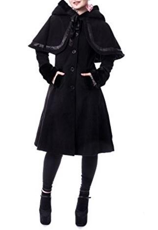 Cappotto Lungo Con Cappuccio Dark Gothic