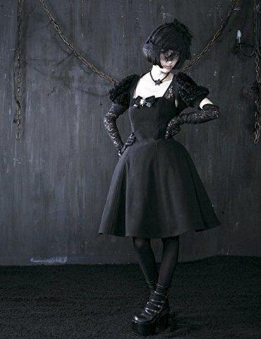 Vestitino Elegante Con Bretelle E Accessori Gotici