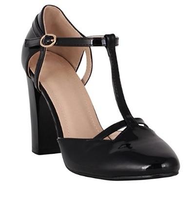 Scarpe glamour nere per ballare con tacco