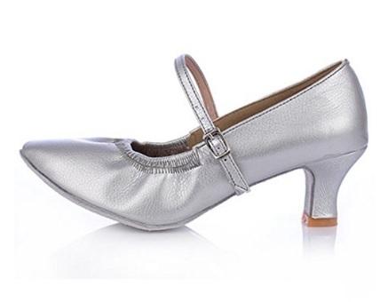 Scarpe per bambine per la danza in argento