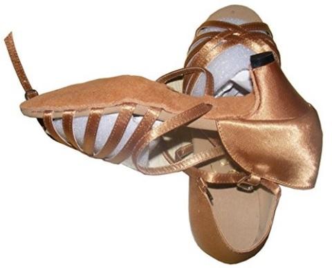 Scarpe per bambina per il ballo in bronzo