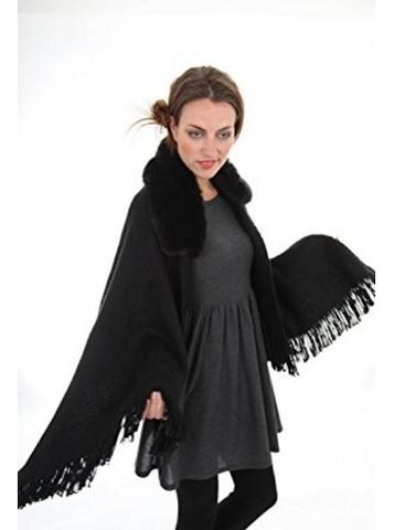 Mantella pelliccia sintetica per l'inverno