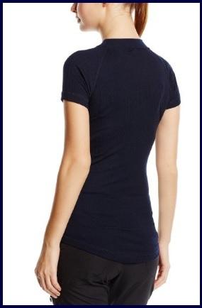 Maglietta Blu Termica A Maniche Corte Da Donna