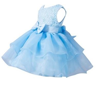 Vestito per bimbe nuziale dal colore azzurro