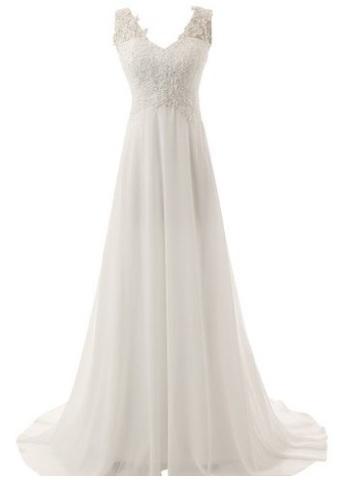 Vestito per sposa matrimoniale smanicato con paillettes