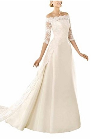 Vestito Matrimoniale Magnifico In Pizzo