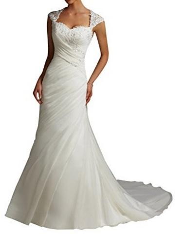 Vestito Matrimoniale Elegante In Tulle Senza Maniche
