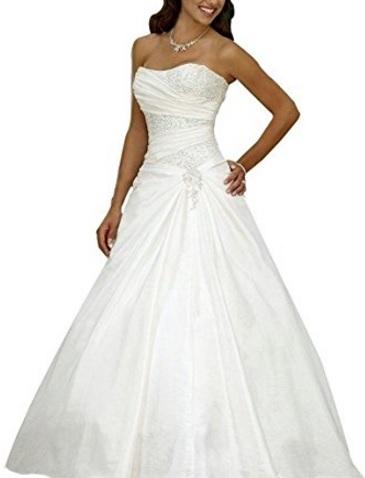 Vestito Elegante In Raso Matrimoniale Lungo