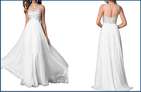 Vestito da sposa linea ad a e chiffon