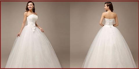 Vestito elegante classico da sposa con chiffon