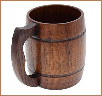 Tazza in legno caratteristiche