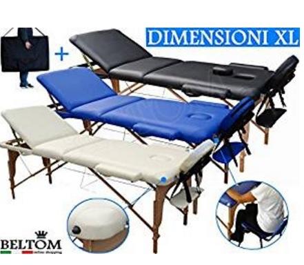 Lettino per massaggio classico e portatile pieghevole