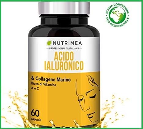 Compresse di acido ialuronico e collagene