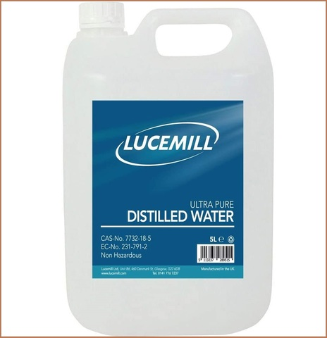 Acqua distillata per cosmetici