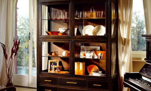 in legno massello catania a messina vetrina classica in legno massello ...