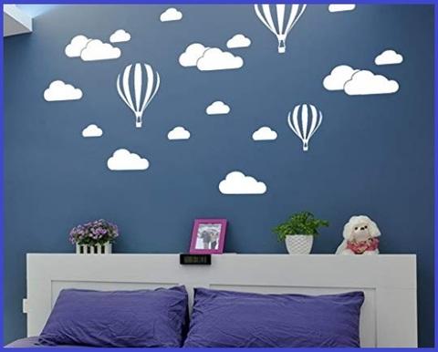 Adesivi Murali Bambini Nuvole