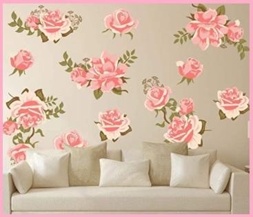 Adesivi Murali Fiori Rosa