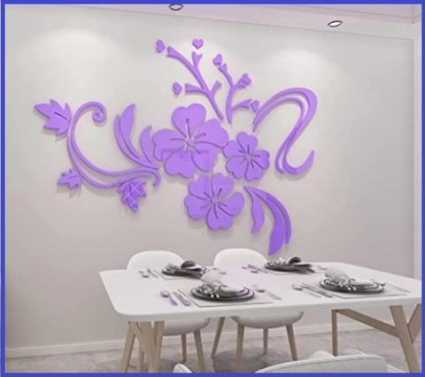 Adesivi Murali Fiori Viola