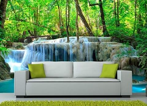 Adesivi muro camera da letto natura