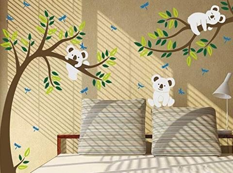 Adesivi parete albero cameretta