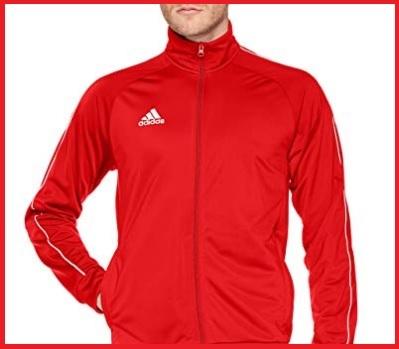 Adidas felpa uomo zip rossa