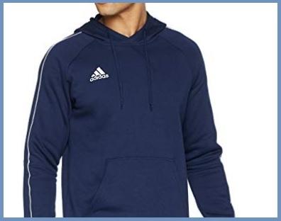 Adidas felpa uomo zip cappuccio