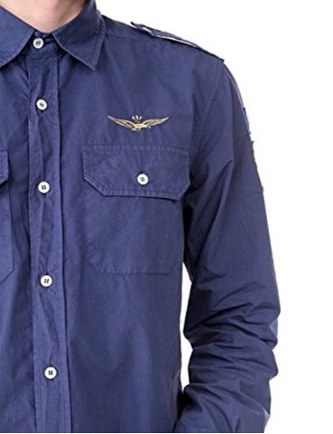 Camicia aeronautica militare cotone uomo