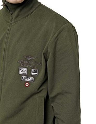 Aeronautica militare felpa con zip verde