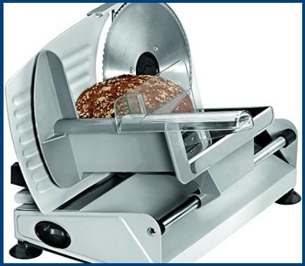 Affettatrici elettriche da cucina di alluminio