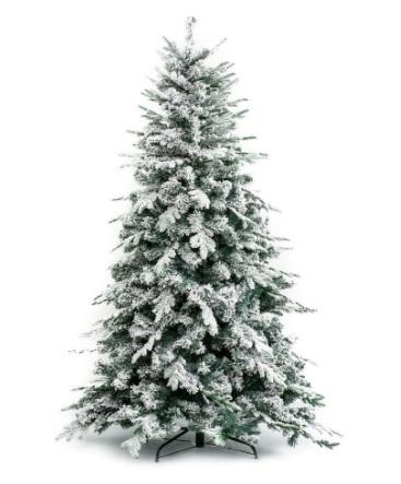 Albero Di Natale Innevato E Classico