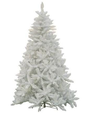 Albero di natale dal colore totalmente bianco