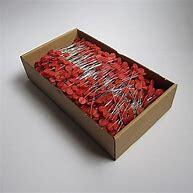 Fermagli per chiusura sacchetti a orecchie. colore rosso