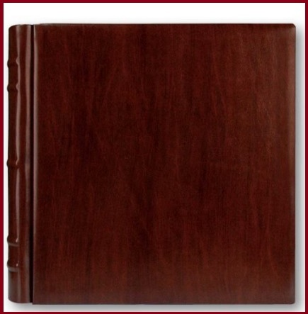 Album nozze rilegato in pelle marrone 35x35cm