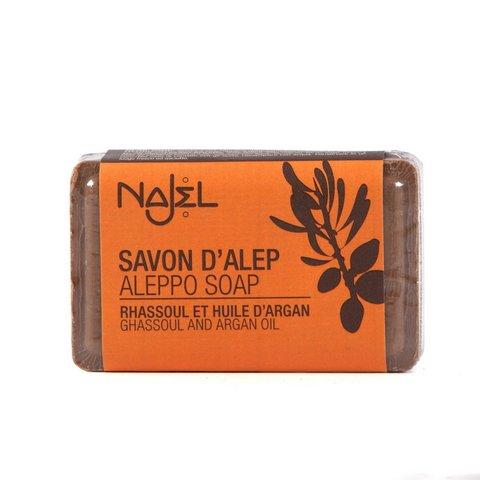 Saponetta di aleppo con rhassoul e olio di argan 100g
