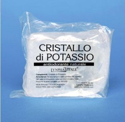 Allume di potassio sale naturale anti odorante